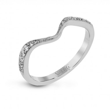 Curved Diamond Band by Simon G