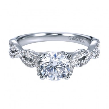 Moissanite Ring by Gabriel & Co.