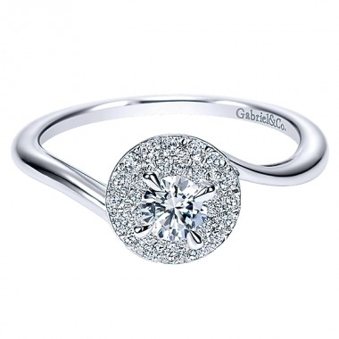 Diamond Halo Ring by Gabriel & Co