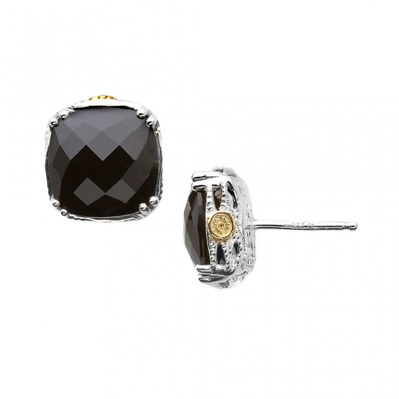 665ddc232fd39 Tacori Classic Rock Onyx Studs | Canadian Jewelry Exchange