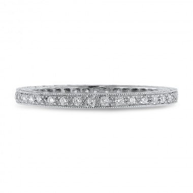 Carved Diamond Eternity Band