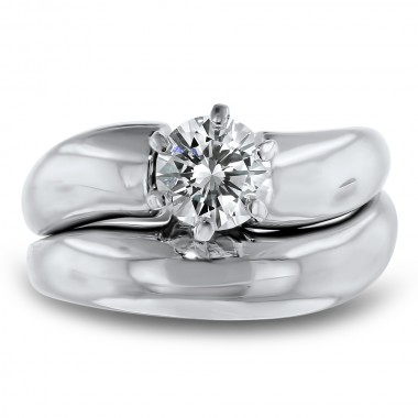 Platinum Solitaire Wedding Set