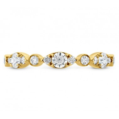 Bezel Regal Wedding Band by Hearts on Fire