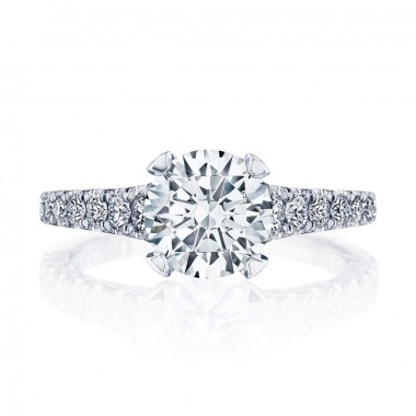Petite Crescent Diamond Ring Setting