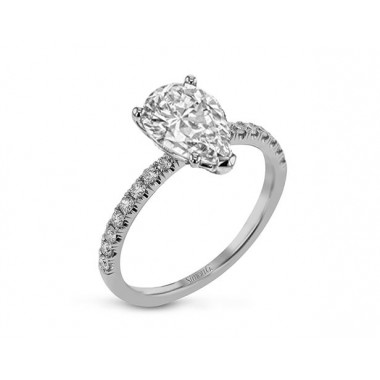Pear Ring Setting by Simon G