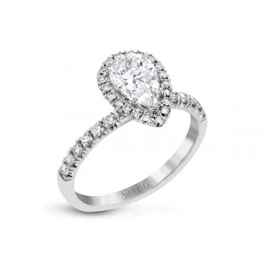 Pear Halo Ring Setting by Simon G
