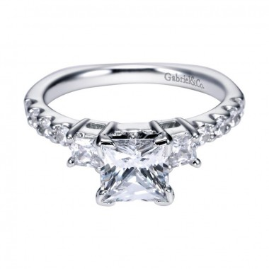 Princess Three Stone Ring Setting