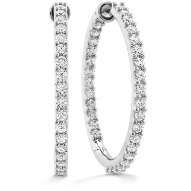 Classic Diamond Hoops by Hearts on Fire
