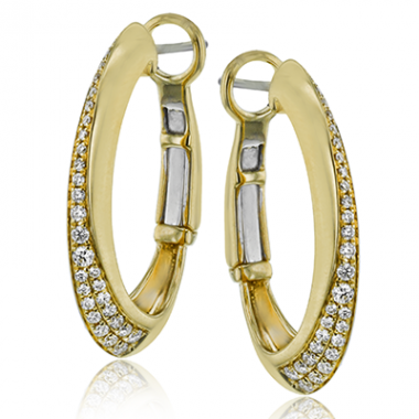 Diamond Hoop Earrings by Simon G