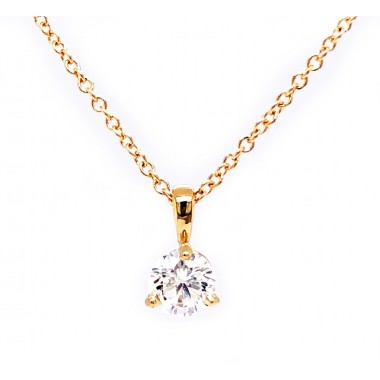 .40CT Diamond Solitaire Necklace