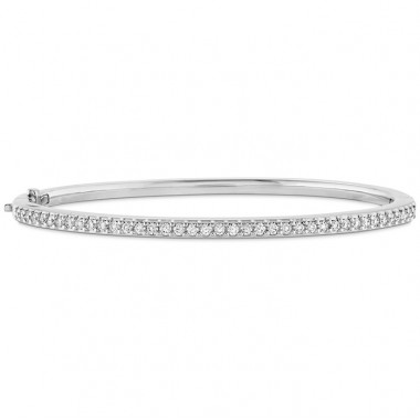 Classic Prong Set Bangle by Hearts on Fire