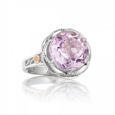 Lilac Blossom Crescent Ring