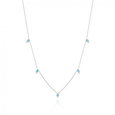 5-Station Turquoise Necklace by Tacori