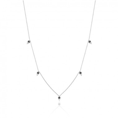 5-Station Onyx Necklace by Tacori