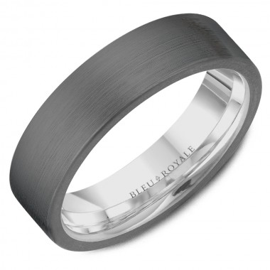 Tantalum Wedding Band with White Interior