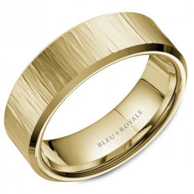 Bark Finish Wedding Band