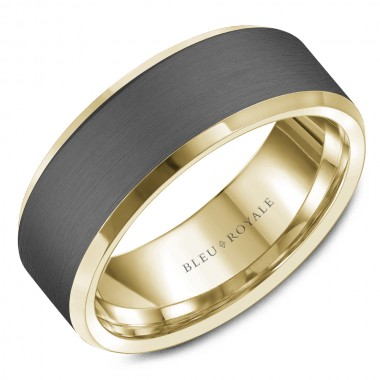 Tantalum & Yellow Gold Band