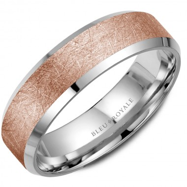 Rose Gold Beveled Wedding Band