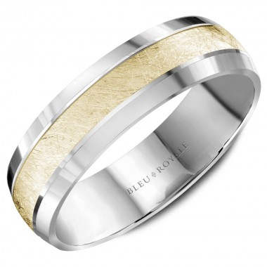 White & Yellow Wedding Band