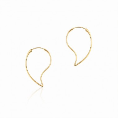 Birks Petale | Yellow Gold Hoop Earrings