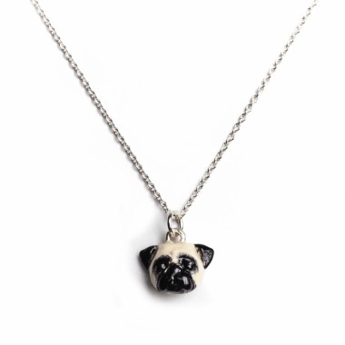 Pug Necklace by Dog Fever