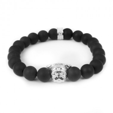 Pug Onyx Bracelet by Dog Fever