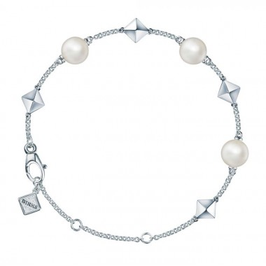 Freshwater Pearl and Stud Silver Bracelet