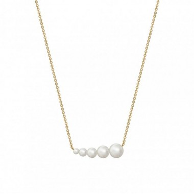 Birks Gold and Pearl | Freshwater Pearl Horizontal Bar Necklace