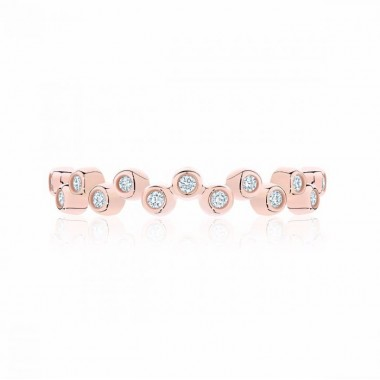 Birks Iconic | Stackable Rose Gold and Diamond Splash Ring