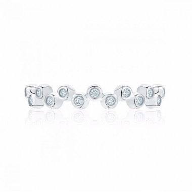Birks Iconic | Stackable White Gold and Diamond Splash Ring