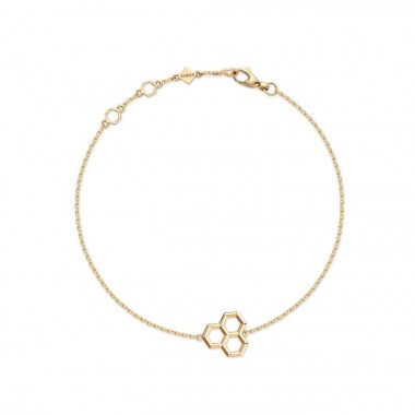 Birks Bee Chic | Yellow Gold Hexagons Bracelet
