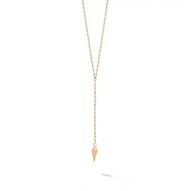 Birks Iconic | Yellow Gold Rock & Pearl Lariat Necklace