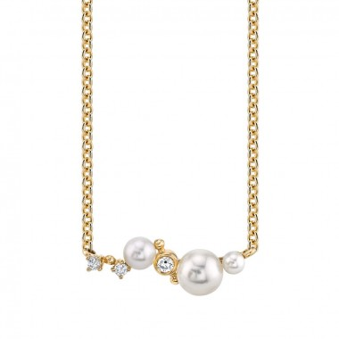 Pearl & Diamond Necklace by Parade