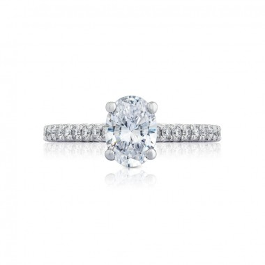 Oval Petite Crescent Ring Setting