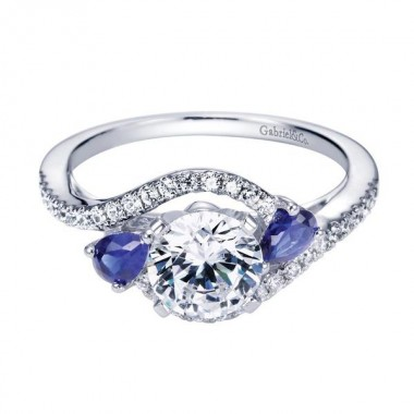 Sapphire Ring Setting by Gabriel & Co.