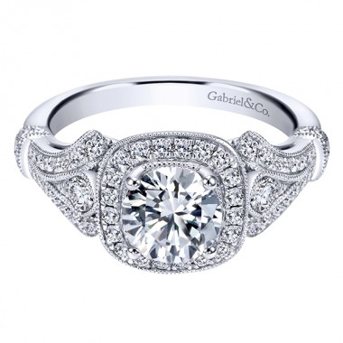 Diamond Ring Setting by Gabriel & Co.