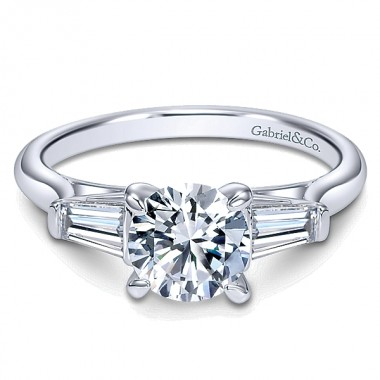 Moissanite Ring by Gabriel & Co