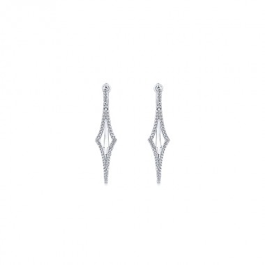 Oval Diamond Hoops by Gabriel & Co