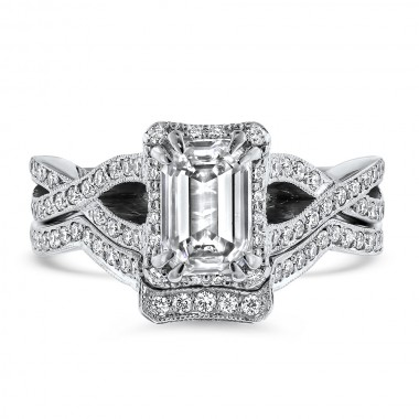 Tacori Diamond Wedding Set