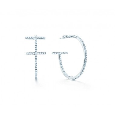 Tiffany & Co Diamond Hoops