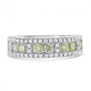 White & Yellow Diamond Band