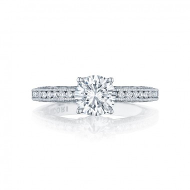 Classic Crescent Ring Setting by Tacori
