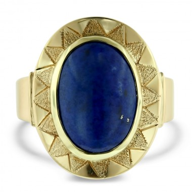 Oval Lapis Ring