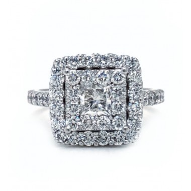 Square LoveBright Diamond Ring