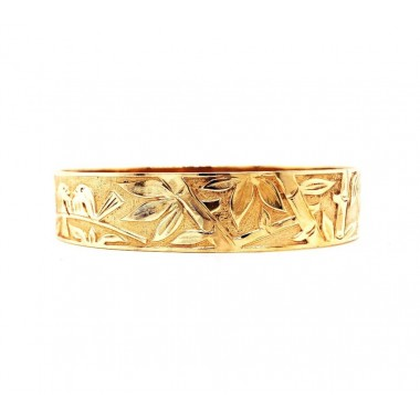 Wide Engraved Bangle