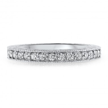 Carved Diamond Band