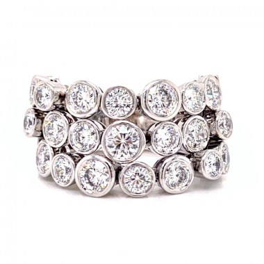 Diamond Lace Ring by Roberto Coin