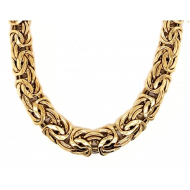 17 Inch Tapered Byzantine Necklace