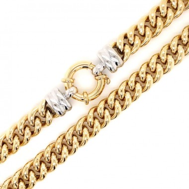 Two Tone Hollow Link Chain