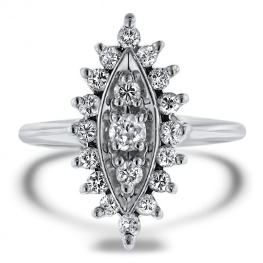Marquise Cluster Ring